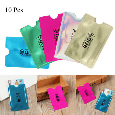 10 Pcs RFID Blocking Sleeve Wallets Credit Card Protector Case Bank Card Holder