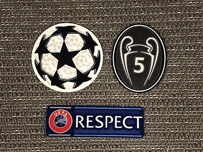 Barcelona 2018/19 UEFA Champions League Starball & RESPECT Sleeve Patches/Badges