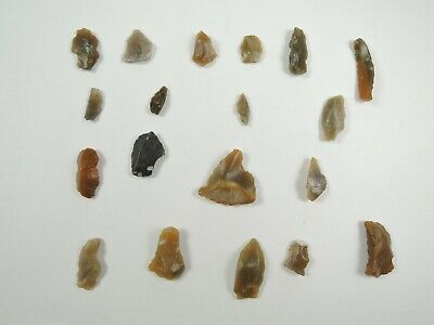 19 NEOLITHIC Flint MICROLITH and ARROWHEAD Essex England