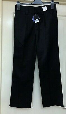 BNWT Next Boys Black Adjustable Waist School Trousers Age 11 Years
