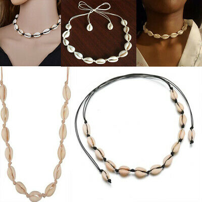 Beach Shell Choker Necklace Simple Bohemian Seashell Necklace Jewelry for Women