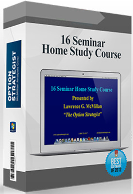 16 Seminar Home Study Course - Option Strategist