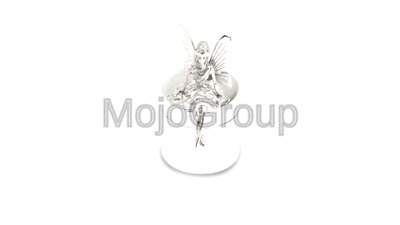 Christening Gift Pewter Elf /& Fairy On A See-Saw First Tooth Box