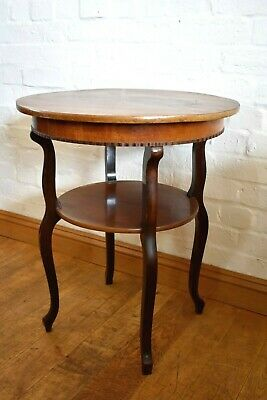 Antique vintage round lamp table / side occasional table / centre display table