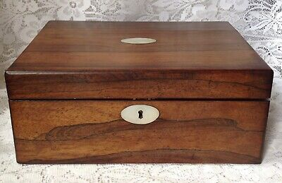 Victorian Caramondel Writing Slope, With Mother Of Pearl Detail, Sold As Seen