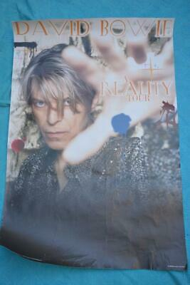 David Bowie REALITY TOUR Poster GENUINE 2003 Tour Poster 63cm x 93cm