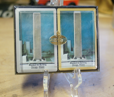 Vintage Standard Oil Building Chicago Playing Cards NEW & UNOPENED! RARE.