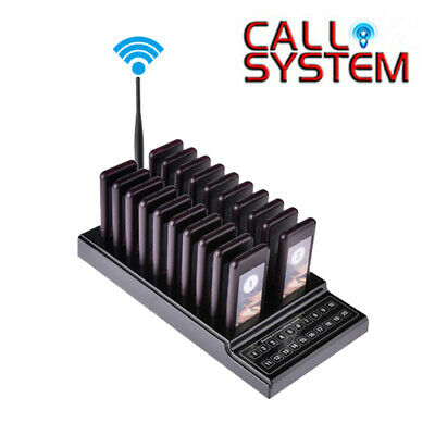 Restaurant Calling Queuing Equipment Chargeable 20CH 1 Transmitter+20 Receivers