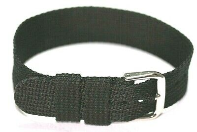 20Mm Nylon Watch Strap 1 Piece Easy Fit Thread Through Only £4.95 With Free Post