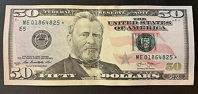 2013 $50 Star Note ✯ Richmond FRB Fifty Dollar Bill ME 01864825 ✯ circulated