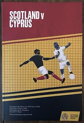 Scotland vs. Cyprus - Official Match Programme.