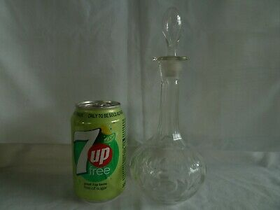 Very Small Victorian Cut Glass Tincture Decanter Antique 19th Century