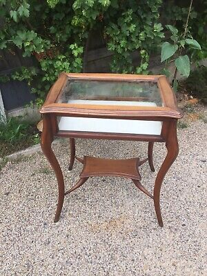 Antique Bijouterie Display Table Mahogany