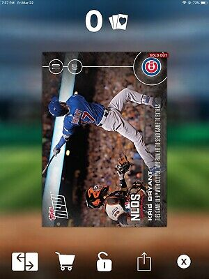 DIGITAL CARD TOPPS BUNT Kris Bryant NLDS Topps Now 299cc