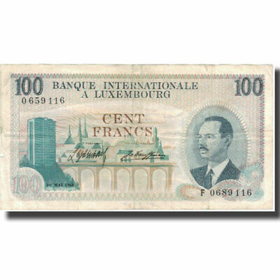 [#579024] Banknote, Luxembourg, 100 Francs, 1968, 1968-05-01, KM:14A, EF(40-45)