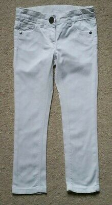 Next Girls Lovely White jeans Age 5 Yrs with adjustable waist in good condition