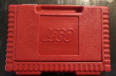 Vintage LEGO 1985 Large Red Storage Container Carrying Case With Lego And Duplos