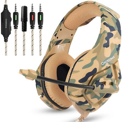 CO_ ONIKUMA K1B Earphone Gaming Headset Noise Reduction Headphone for PS4 XBOX L