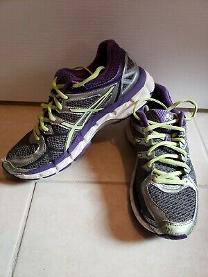 quality design 46576 20052 Women s ASICS GEL-Kayano 21 Running Athletic Shoes Sneakers Size 7.5 purple  neon