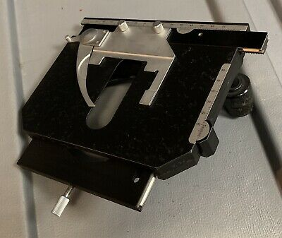 Nikon XY Microscope Stage with Specimen Slide Clip for Labophot, Optiphot