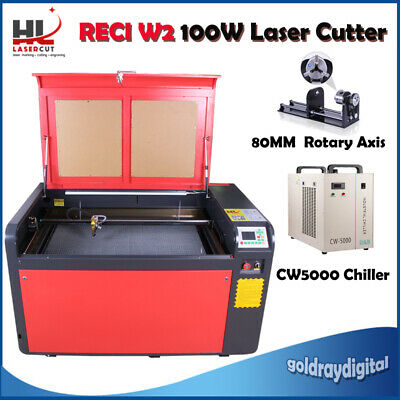 100W CO2 Laser Engraving Cutting Machine /Linear Guides/CW5000 Chiller USA FedEx