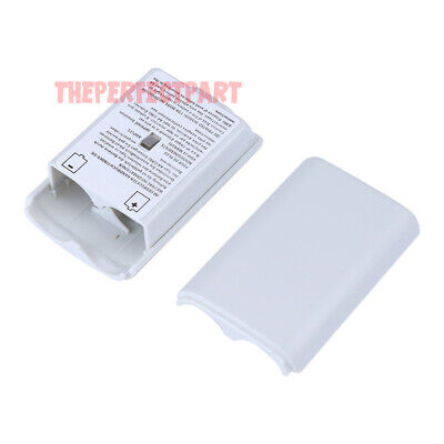 White AA Battery Back Cover Case Shell Pack For Xbox 360 Wireless Controller USA