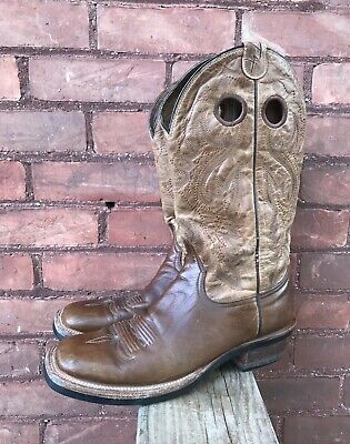 98b2c40520a RESISTOL RANCH LEATHER Western Cowboy Boots Style # 4058 Mens Size 11 B