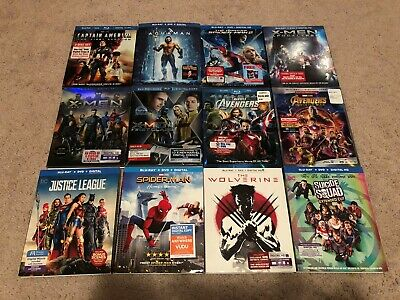 Blu Ray Bluray Slipcover only Marvel DC lot x20 NO MOVIES