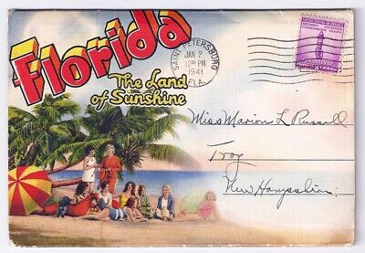 Florida The Land of Sunshine Vintage Postcard Folder
