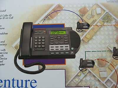 USED NORTEL VENTURE 3-line Business Phone BLACK OR ALMOND - INCLUDES