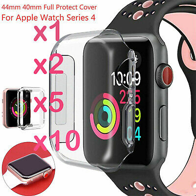 For Apple iWatch Series 4 3 2 1 Case TPU Screen Protector 40/44mm Clear Lot Ya