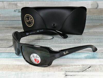 3c05c1829 RayBan RB4075-601/58 BLACK crystal green Polarized 61 mm Men's Sunglasses