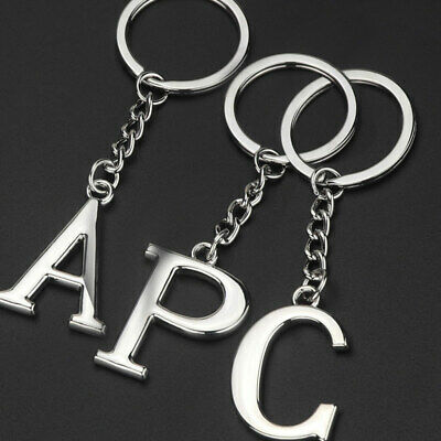 Silvery Keyring key Chain 1PC Car Key Ring Metal Letters NEW For Men Women ABC