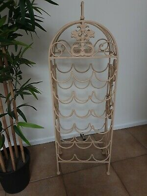 Ornate VINTAGE WROUGHT IRON WINE RACK 18 BOTTLES.