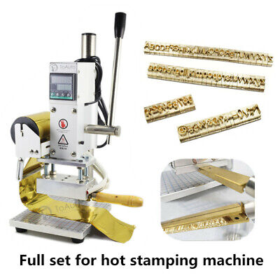 Hot Foil Stamping Machine Brass Alphabet Letters Leather Press Logo Embossing