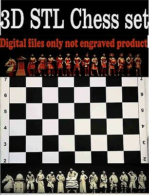 Chess set Arab–Byzantine  3D model  STL model for 3D printer CNC Router carving