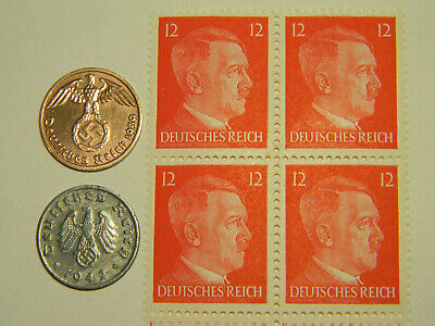 Rare Very Old Antique Vintage WW2 German Coin Stamp Collection Lot