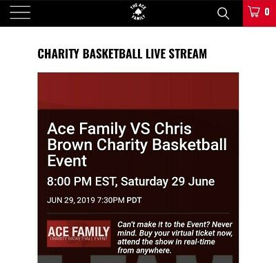 ACE Family Charity Basketball Event 6/29/19 Section 102 Row 5 Seats 1 and 2