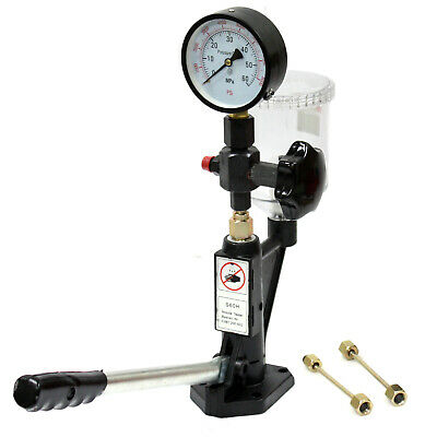 DIESEL INJECTOR NOZZLE Pop Tester with 0- 600 BAR / 0- 8000