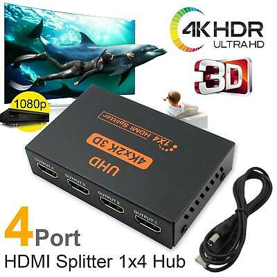 4K UHD HDMI Splitter Switch 1 In 4 Out 3D 4 Way HDMI Signal Distributor
