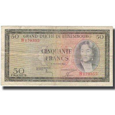 [#578497] Banknote, Luxembourg, 50 Francs, 1961, 1961-02-06, KM:51a, VF(20-25)