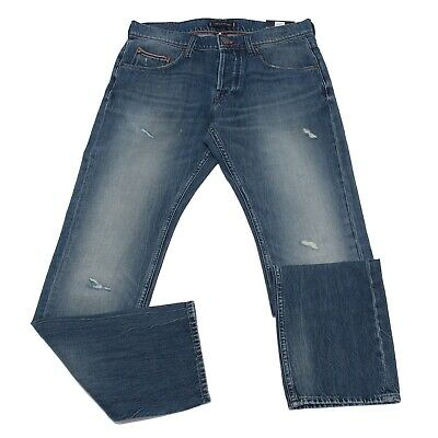 320bfb97921530 1944K jeans uomo TOMMY HILFIGER DENTON STRAIGHT FIT light blue denim  trouser man