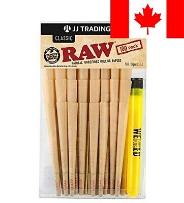 RAW Cones Classic 98 Special - 100 Pack Bundle | Size Natural Unrefined Pre R...