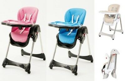 FoxHunter Portable Baby High Chair Infant Soft Leather Feeding Nursery BHC04