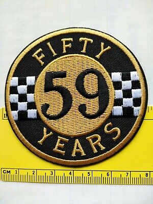 Fifty Years 59 Club  On Biker Motorcycle Patch  Toppa Ecusson Abzeich Thermoader