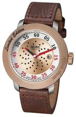 GV2 by Gevril 1101 Alberto Ascari Limited Edition Automatic Leather Men's Watch