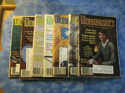 Lot Of 7 Vintage Workbasket And Home Arts Magazine 1981, 1982, 1983