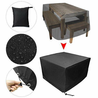 Waterproof Garden Patio Furniture Cover for Rattan Table Cube Seat Outdoor 3Size