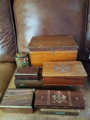 Beautiful Vintage Wooden Boxes For Restoration