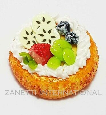 Dollhouse Miniature Fruit Pie Doll Mini Tiny Sweet Food Tart Flan Cake Bakery